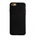 "High Quality Crocodile Grain Pattern Protective PU + TPU Back Case for IPHONE 6 4.7"" - Black"