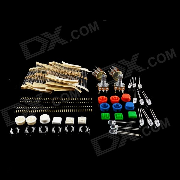 HF Carbon Film Resistors + LED Development Board Kit - Multicolored
