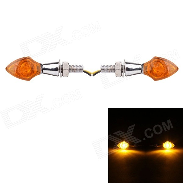 MZ Universal 1.5W 250lm High Power COB Yellow Light Motorcycle Steering Lamp - Yellow (2 PCS / 12V)