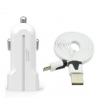 USAMS Universal 3.1A Dual USB Car Charger w/ Micro USB Cable for Nokia / Samsung / HTC / Motorola