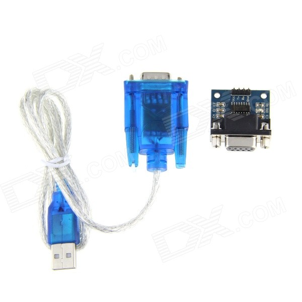 купить RS232 to TTL/ HL-340 Module + USB to RS232 Adapter Cable - Blue + Black недорого