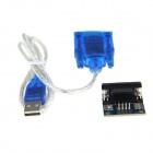RS232 to TTL/ HL-340 Module + USB to RS232 Adapter Cable - Blue