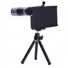 "Detachable 12X Metal Telephoto Lens for IPHONE 6 4.7"" w/ Tripod Case - Black + Silver"