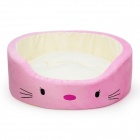 YDL-WJ4003-M Fashionable Beards Style Bed for Pet Cat / Dog - Pink + Multi-Colored (M)
