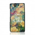 Flower Pattern Protective PC Back Case for Sony Xperia Z / L36H - Yellow + White + Multi-Color