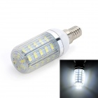 Marsing E14 6W 600lm 6500K 38-SMD 5730 LED White Light Corn Lamp - White + Yellow (AC 220~240V)