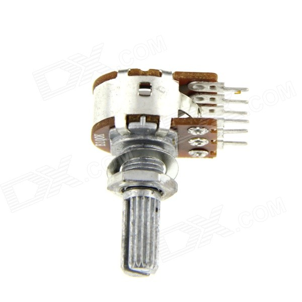 DIY Aluminum 100Kohm Double Potentiometers - Silver + Brown (10 PCS)