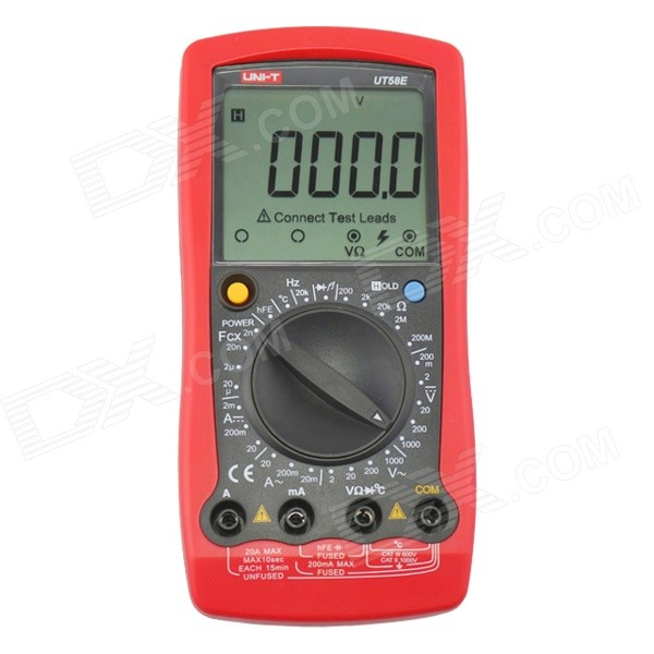 UNI-T UT58E Universal 3.1 LCD Digital Multimeter - Black + Red (1 x 6LF22) yes yes relayer cd dvd