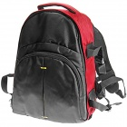 BB70-RD Water Resistant Universal Nylon Backpack for DSLR - Black + Red