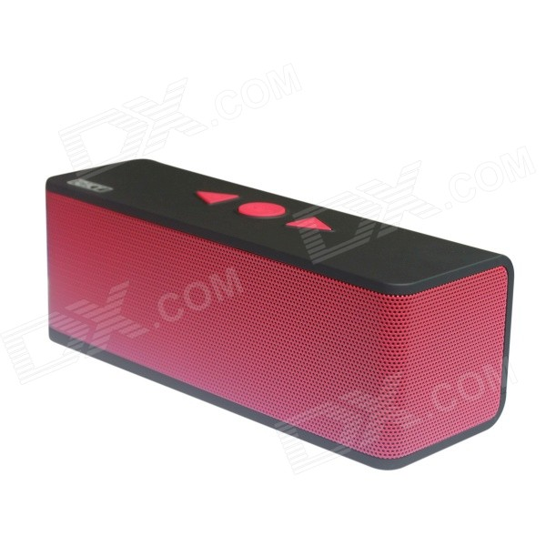 CKY BC235E Portable Wireless Bluetooth V3.0 Speaker w/ TF / 3.5mm - Black + Red