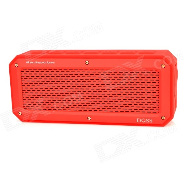 DOSS DS-1368 Bluetooth V3.0 + EDR Speaker w/ Micro USB / TF / 3.5mm - Red doss ds 1188s portable gesture control wireless bluetooth v2 0 edr speaker w tf black
