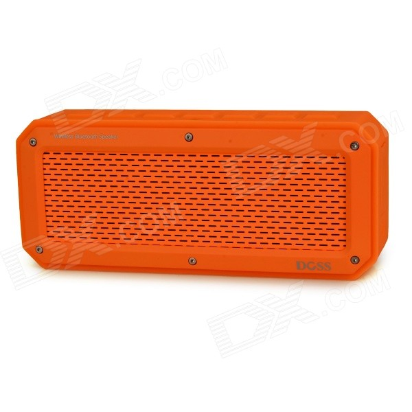 DOSS DS-1368 Bluetooth V3.0 + EDR Speaker w/ Micro USB / TF / 3.5mm - Yellow - DXBluetooth Speakers<br>Elegant and fine design: rectangle shaped soft angle; With metal mesh covered; Suitable for both outdoor and home - Bright color fashionable - Built-in two 1.5 magnetic neodymium speakers and two large diaphragms; Pure and clear sound - Long working time built-in li-ion polymer battery - Supports TF card read AUX audio external playing and hands-free speaking<br>