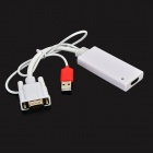 VGA Male to HDMI Female + USB 3.0 Audio Video Converter Adapter Cable - White