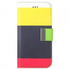 Rainbow Color Pattern Design PU Leather Flip Open Case w/ Stand & Card Slot for IPHONE 6 4.7""