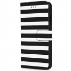 Dual Color Stripe Design Pattern PU Leather flip aberto caso w / Stand & Slot para cartão para o iPhone 6 4.7 ""