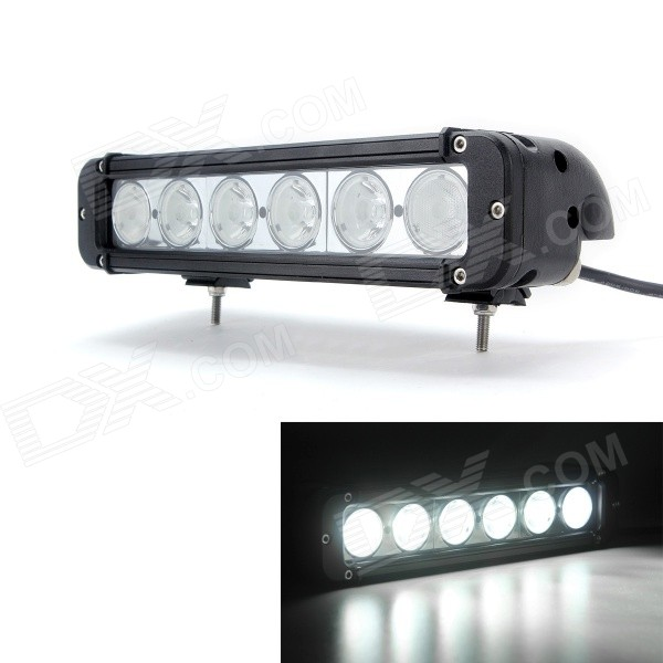 MZ 11 60W 4500lm 6-LED Spot + Flood Combo Worklight Bar Off-road Lamp (10~30V) guleek 60w type h 4200lm 6000k 6 led white flood spot light worklight bar for car boat