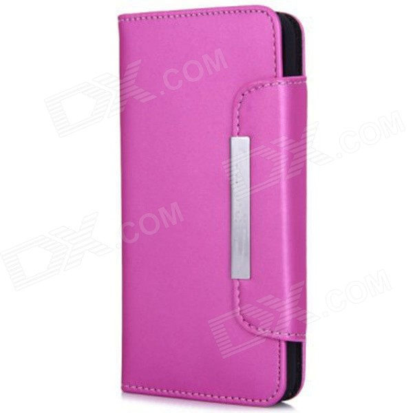 Wallet Style Magnet Buckle PU Leather Flip Open Case w/ Stand / Card Slot / Strap for IPHONE 6 4.7 wallet style magnet buckle pu leather flip open case w stand card slot strap for iphone 6 4 7