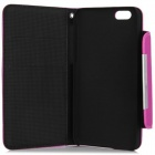 Wallet Style Magnet Buckle PU Leather Flip Open Case w/ Stand / Card Slot / Strap for IPHONE 6 4.7""