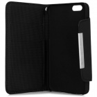 Wallet Style Magneet Gesp PU Leather Flip Open Case w / Stand / Card Slot / Strap voor iPhone 6 4.7 ""