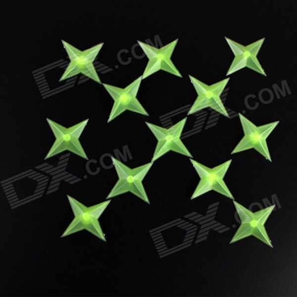 Ninja Darts Glow Decorative Paste Decoration Wall Stickers - Green (12 PCS) sharpener polishing wax paste metals chromium oxide green abrasive paste chromium oxide green polishing paste
