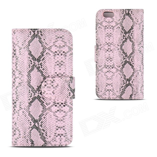 Angibabe Snake Skin Pattern Flip-open PU Leather Case with Card Slots for IPHONE 6 4.7 - Pink angibabe snake skin pattern flip open pu leather case with card slots for iphone 6 4 7 pink