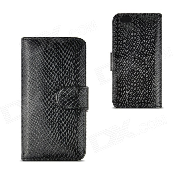 Angibabe Snake Skin Pattern Flip-open PU Leather Case with Card Slots for IPHONE 6 4.7- Black