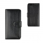 "Angibabe Snake Skin Pattern Flip-open PU Leather Case with Card Slots for IPHONE 6 4.7""- Black"