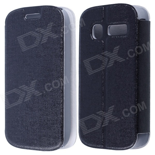CM01 Protective PU Leather Flip-Open Case w/ Stand for Alcatel One Touch Pop C1 - Black mooncase alcatel one touch pop c7 leather flip card holder pouch stand back чехол для alcatel one touch pop c7 blue
