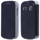 CM01 Protective PU Leather Flip-Open Case w/ Stand for Alcatel One Touch Pop C3 - Black