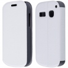 CM01 Protective PU Leather Flip-Open Case w/ Stand for Alcatel One Touch Pop C3 - White