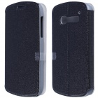 CM01 Protective PU Leather Flip-Open Case w/ Stand for Alcatel One Touch Pop C5 - Black