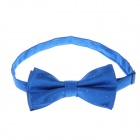 Men's Fashion Polyester Bow Necktie - Blue
