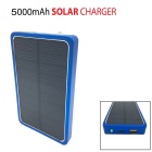 SP0015 8000mAh Solar Power Bank for IPHONE / Samsung / HTC - Blue
