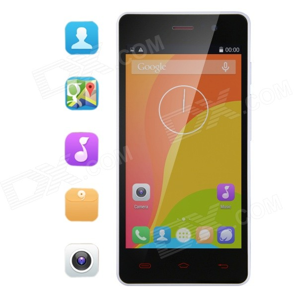 Bluboo X3 Android 4.4 Quad Core WCDMA Smartphone w/ 4.5 IPS, GPS, WiFi, Bluetooth, 4GB ROM - White q55 android 4 4 2 quad core wcdma phone w 4 7 ips 4gb rom wifi gps nfc black