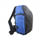 JB77-SBL Nylon Single Shoulder Backpack Bag for Canon / Nikon / Sony / Samsung + More - Blue + Black