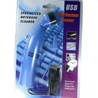 USB Powered Mini Turbo Vacuum Cleaner with Brush and Illumination LED