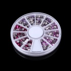 Fashion DIY Bead Style Nail Art Decorative Acrylic Sticker Set - Silver + Pink + Purple