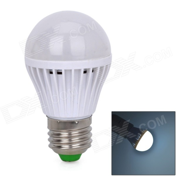 JMT-3W Voice Control + Light Control E27 3W 180lm 33-SMD 2835 LED Cool White Light Lamp (220V)