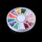 Fashion DIY Wheel Style Decorative Acrylic Nail Art Sticker Set - Multicolored