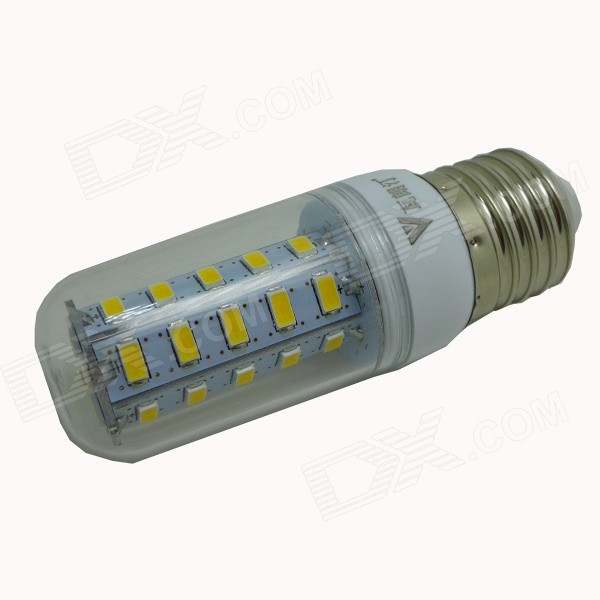 WALANGTING E27 5W 350lm 3500K 36-SMD 5730 LED Warm White Light Lamp - White (AC 220V) lexing lx r7s 2 5w 410lm 7000k 12 5730 smd white light project lamp beige silver ac 85 265v
