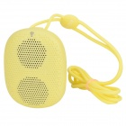 DOSS DS-1196 Portable Mini Wearable Wireless Bluetooth Speaker w/ TF Slot / Hands-free Call - Yellow
