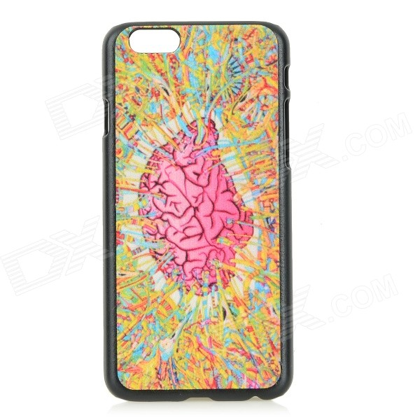 Patterned Protective PC Back Case Cover for IPHONE 6 - Pink + Yellow et pattern protective pc back case cover for iphone 6 yellow multi colored