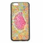 Patterned Protective PC Back Case Cover for IPHONE 6 - Pink + Yellow