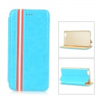 "Protective Flip-Open PU + PC Case w/ Stand for IPHONE 6 4.7"" - Sky Blue"