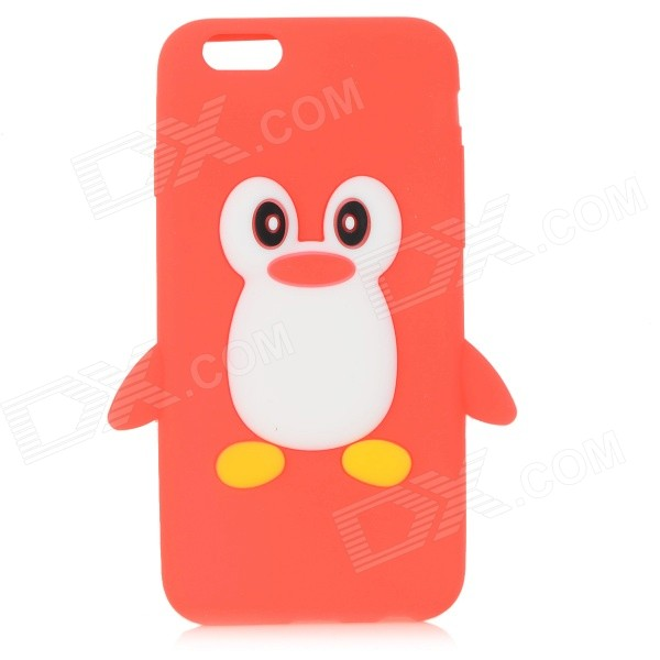 CYF-7001 Penguin Patterned Protective Silicone Back Case Cover for IPHONE 6 - Red + Yellow пинетки митенки blue penguin puku