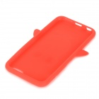 CYF-7001 Penguin Patterned Protective Silicone Back Case Cover for IPHONE 6 - Red + Yellow