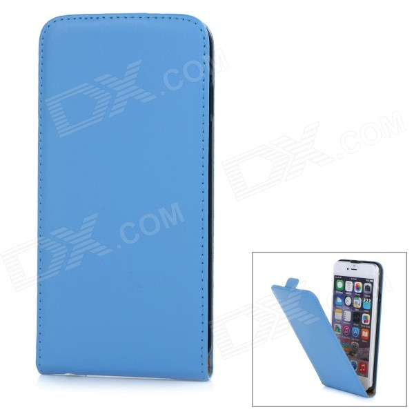 "WB-55PL Protective Sheep Skin Top Flip-Open Case for IPHONE 6 PLUS 5.5"" - Blue"
