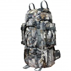 E3697 Water-resistant Multi-functional Large Capacity Camping Hiking Dacron Backpack - Camouflage