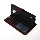 Protective Flip-Open PU + PC Case Cover w/ Stand + Card Slot for Samsung Galaxy Note 4 - Coffee