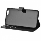 Protective Flip-Open PU + PC Case w/ Stand + Card / Money Slot for IPHONE 6 PLUS - Black